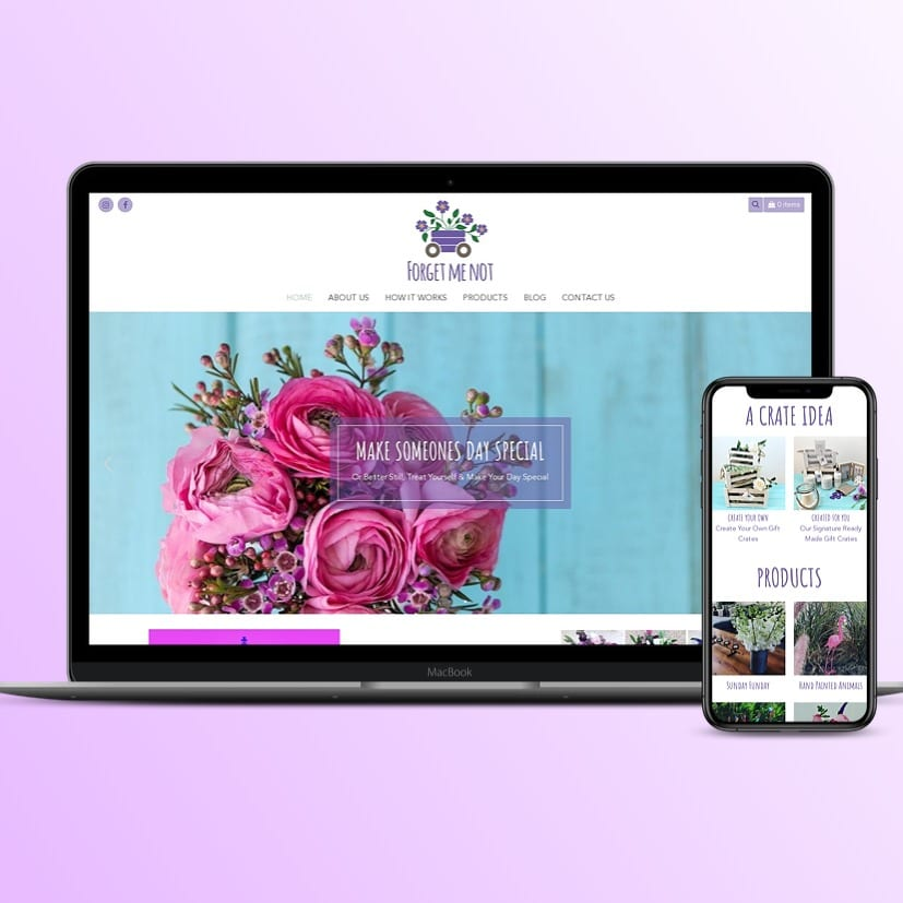 Forget Me Not - E-commerce Website